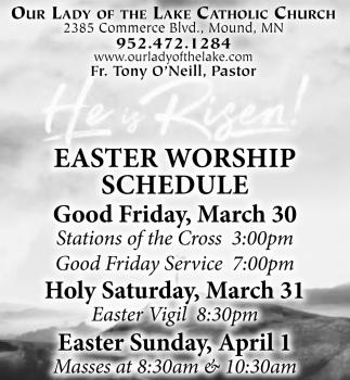 Easter Worship Schedule