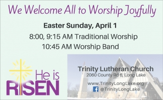 We Welcome All to Worship Joyfully!