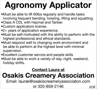 Agronomy Applicator