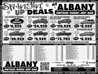 Springing' up deals at Albany