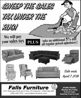 Sweep the sales tax under the rug!
