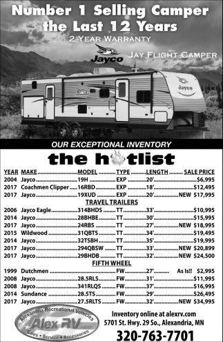 Number 1 Selling Camper the Last 12 Years
