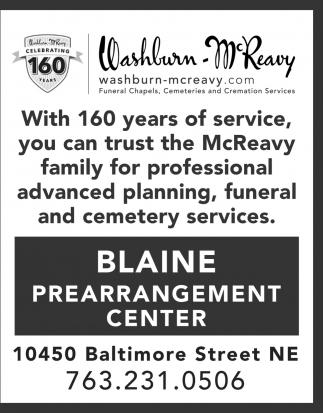 Blaine Prearrangement Center