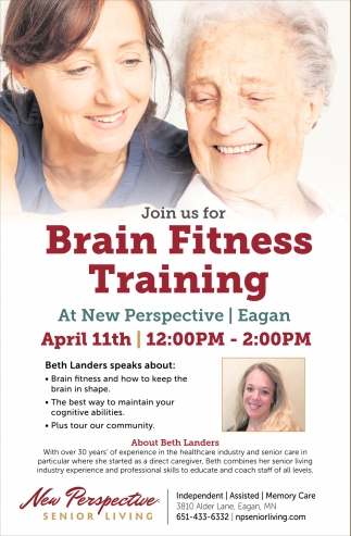 Join us for Brain Fitness Training!
