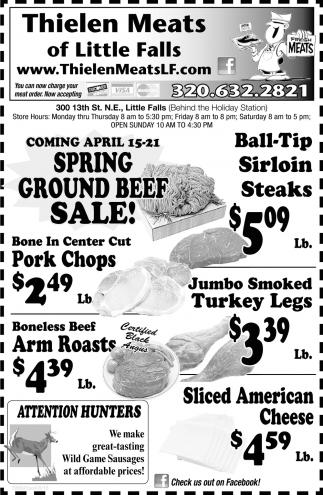 Spring Ground Beef Sale
