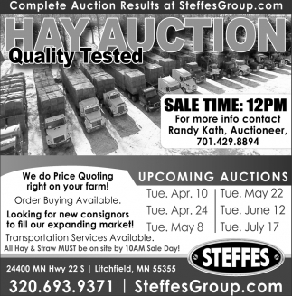 Hay Auction, Quality Tested