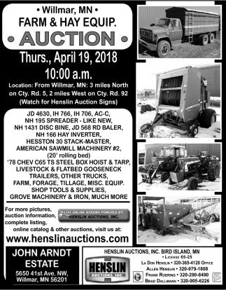 Farm & Hay Equip Auction