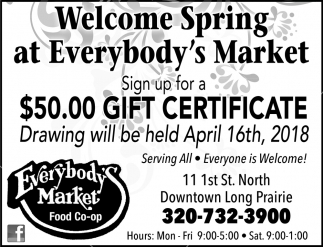 Welcome Spring at Everybody's Market