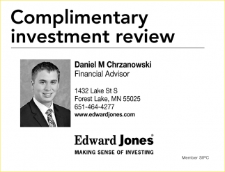 Complimentary investment review