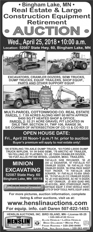 Real Estate & Large Construction Equipment Retirement
