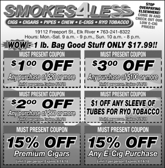 Come in And Check Out Our Low E-cig Prices
