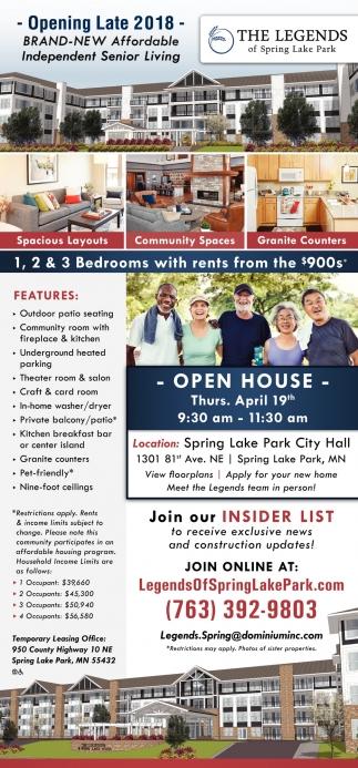 Brand-New Affordable Indepent Senior Living
