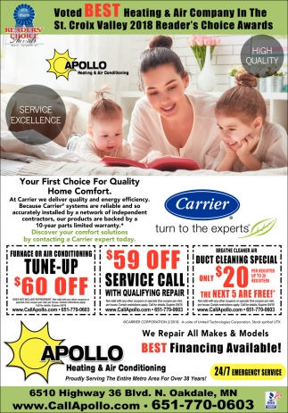 apollo heating and air conditioning mn