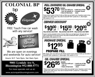 Check out Our Spring Specials
