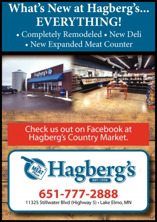 What's New at Hagberg's?, Everything!