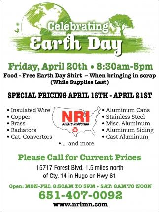 Celebrating Earth Day, NRI Metal Recycling , Hugo, MN