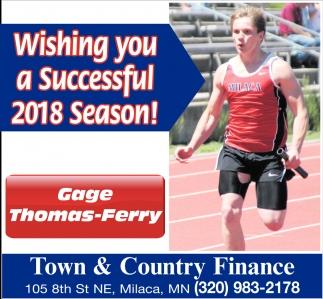 Wishing You a Successful 2018 Season