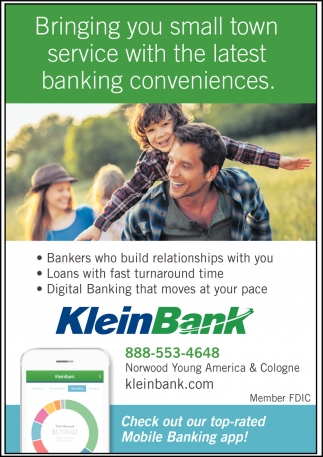 Bringing you small town service with the latest banking conveniences