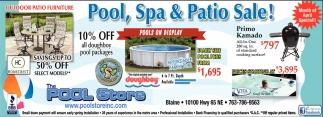 Pool, Spa & Patio Sale