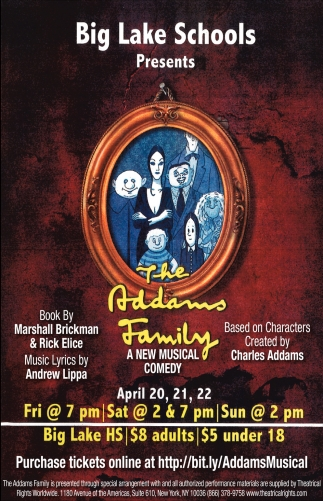 The Addams Family, Big Lake High School , Big Lake, MN