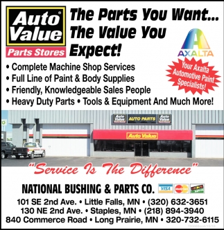 The Parts You Want... The Value You Expect!