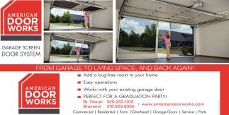 Garage Screen Door System, AMERICAN DOOR WORKS, Waite Park, MN