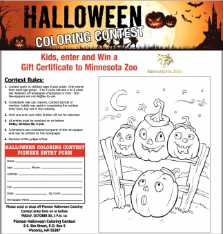 ads for minnesota zoo in minneapolis mn - Halloween Coloring Contest 3