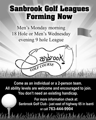 Sanbrook Golf Leagues Forming Now