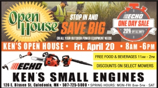 Stop in and Save Big on All Your Outdoor Power Equipment Needs