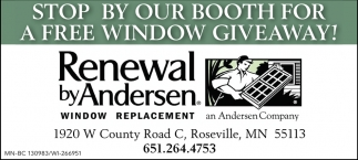 Stop by Our Booth for a Free Window Giveaway