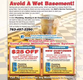 Avoid a Wet Basement