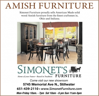 Amish Furniture Simonet S Furniture
