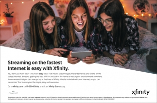 Streaming on the Fastest Internet is Easy With Xfinity