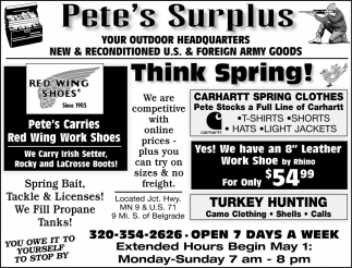 New & Reconditioned U.S & Foreign Army Goods