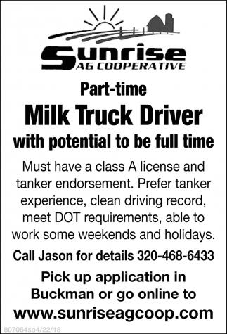 Milk Truck Driver