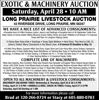 Exotic & Machinery Auction