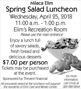 Spring Salad Luncheon