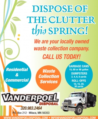 Dispose of the Clutter this Spring