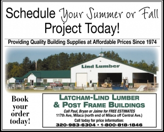 Schedule Your Summer or Fall Project Today