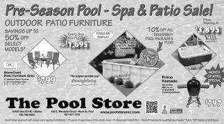 Pre-Season Pool, Spa & Patio Sale!