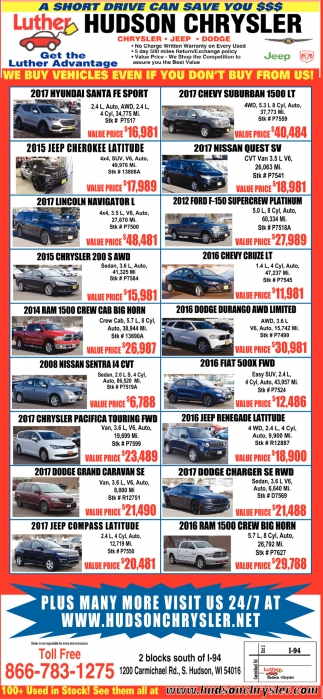 We buy Vehicles even if you don't buy from us!