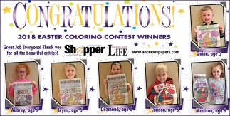 2018 Easter Coloring Contest Winners