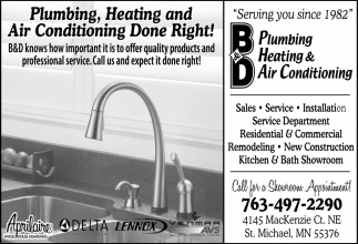 Plumbing, Heating and Air Conditioning Done Right!