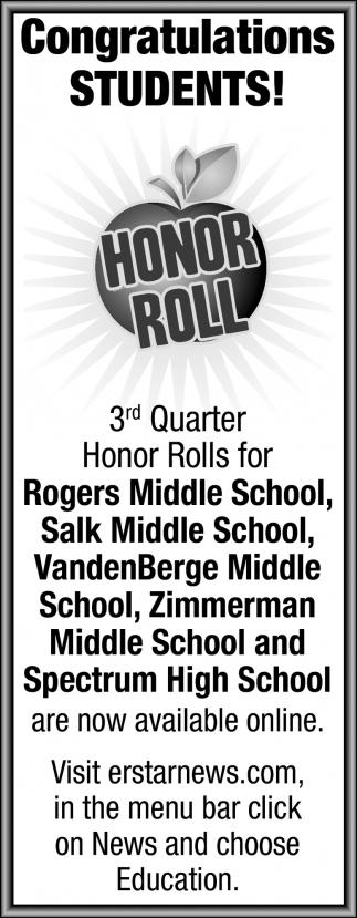 Congratulations Students!
