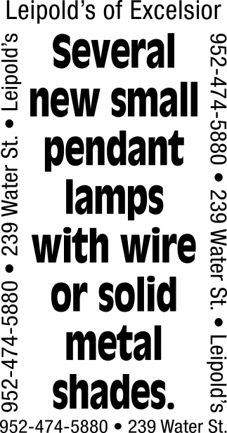 several New Small Pendant Lamps