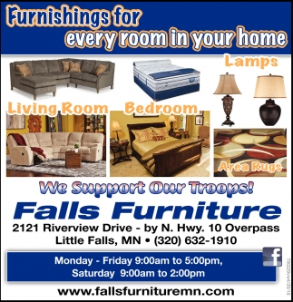 Furnishings For Every Room In Your Home Falls Furniture Little Mn