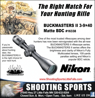 The Right Match for your Hunting Rifle