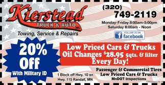 Low Priced Cars & Trucks Oil Changes