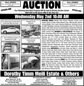 Auction Wednesday May 2nd