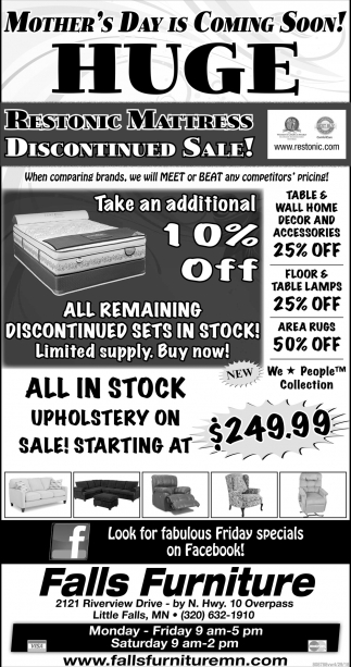 Restonic Mattress Discontinued Sale!